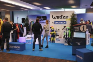 Stoisko Decathlon na SNOW EXPO