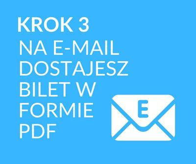 Bilet w formie PDF na Twojego e-maila